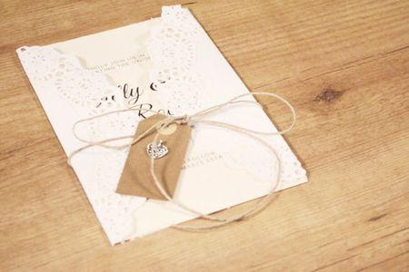 Tarjetas de invitación DIY, para que personalicen su matrimonio