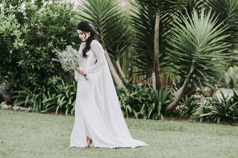 Porque el vestido de novia lleva cola