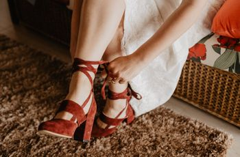 30 opciones de zapatos de novia...¡ y de colores!