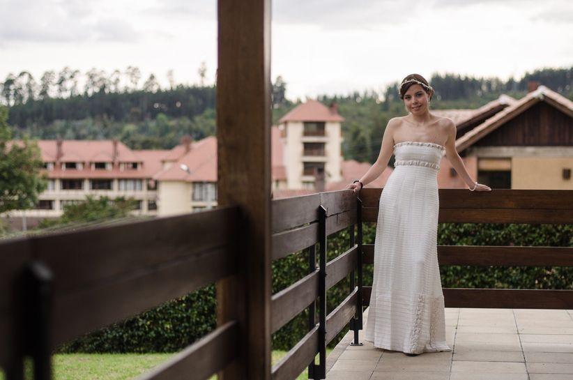 El mejor vestido de novia para bajitas