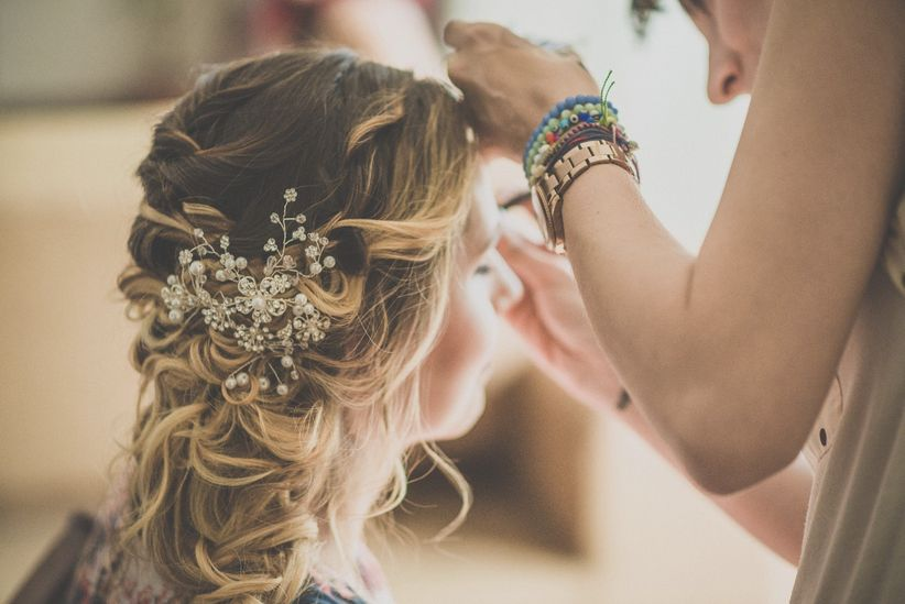 Peinados Recogidos Para Novias De Cabello Rizado La Opción