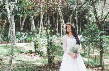 Estilismo 'boho chic' para tu boda civil: vestidos de novia ¡y más!
