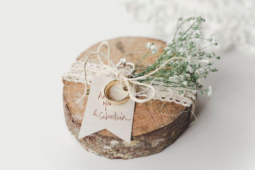 Recuerdos Para Matrimonio Rustico : Porta argollas originales