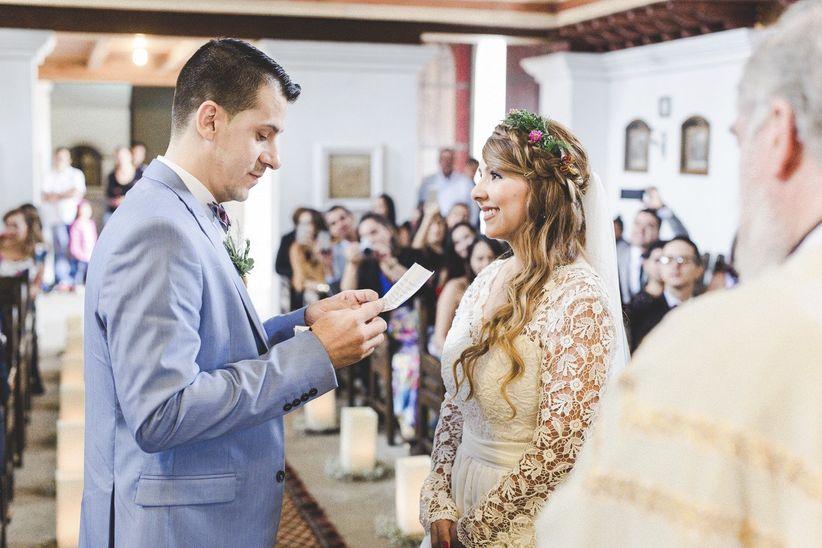 novio lee textos para votos matrimoniales en la iglesia