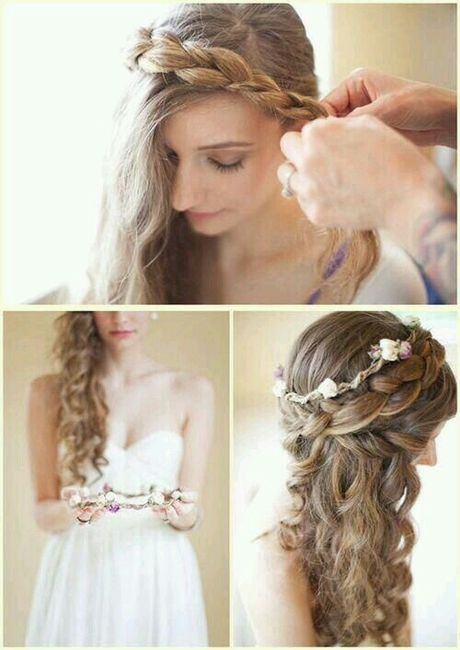 Peinados novia semirecogidos