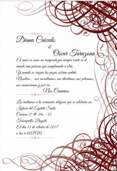 plantillas para invitaciones de boda 1