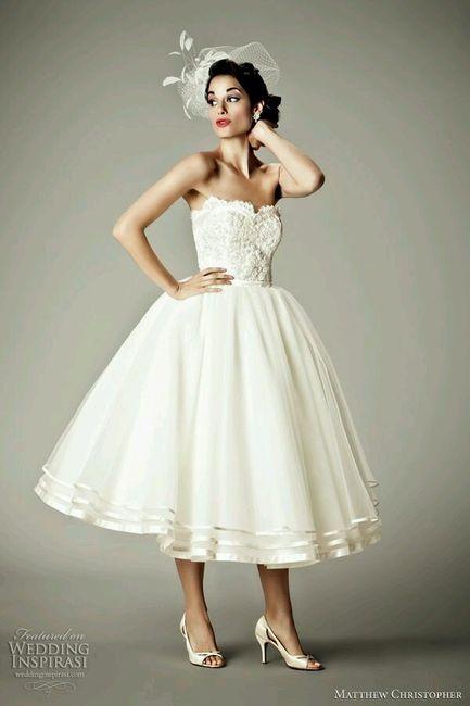 vestido de novia hasta el tobillo?