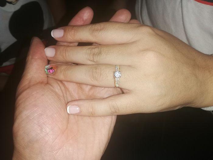 ¿De qué color tenías las uñas cuando te dieron el anillo de compromiso? 12