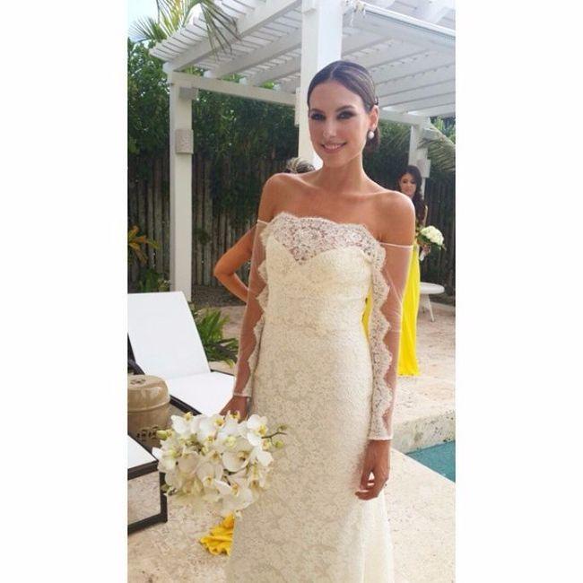 5 mejores vestidos de novias de famosas colombianas