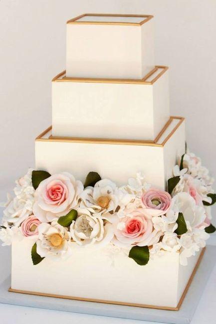 2. Torta de matrimonio cuadrada