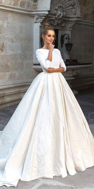 1. Vestido de novia con mangas