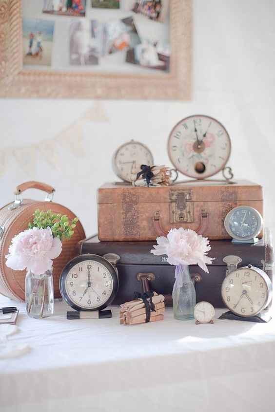 1. Decoración boda vintage