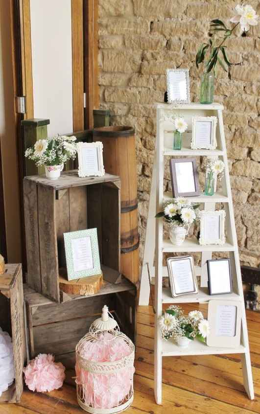5. Decoración boda vintage