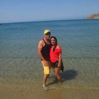 En la playa de taganga
