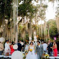 Ceremonia en medio de musgos