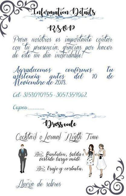 Mis Tarjetas de invitación 1