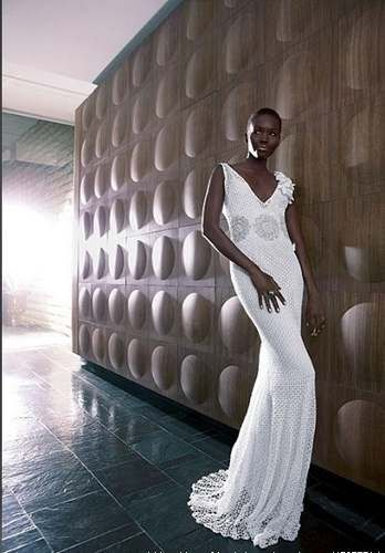 Vestidos de novia a crochet para mujer