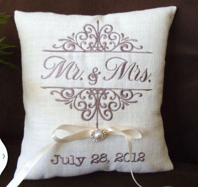 Cojines para argollas personalizados - Cojines para cama matrimonio ...