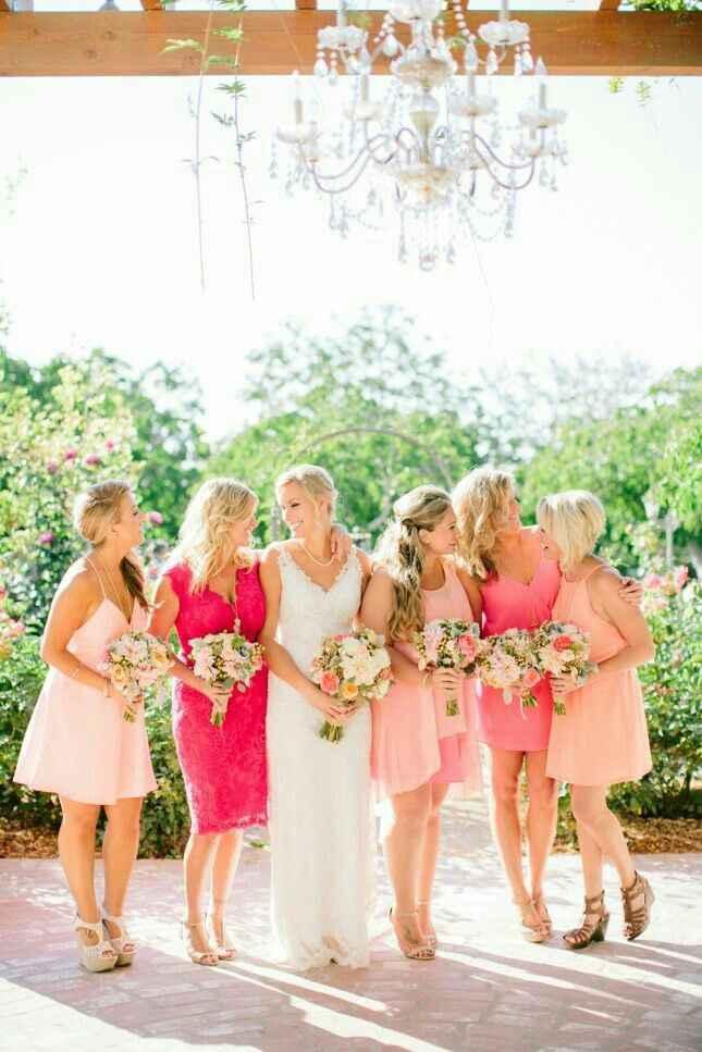 Inspiración vestidos para damas de honor en rosado - 2