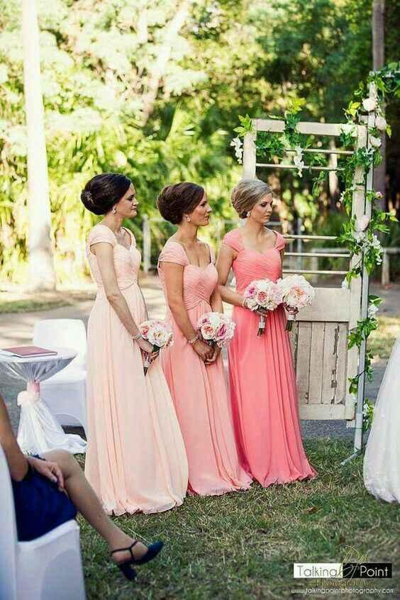 Inspiración vestidos para damas de honor en rosado - 3
