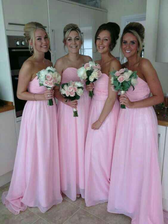 Inspiración vestidos para damas de honor en rosado - 4