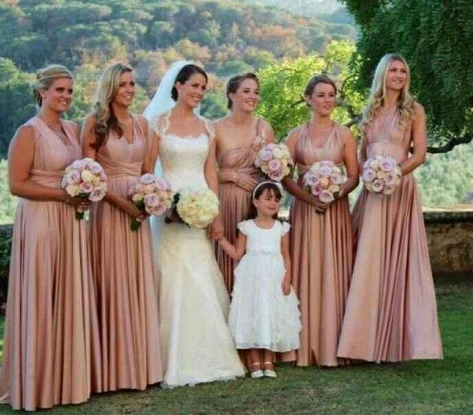 Inspiración vestidos para damas de honor en rosado - 5