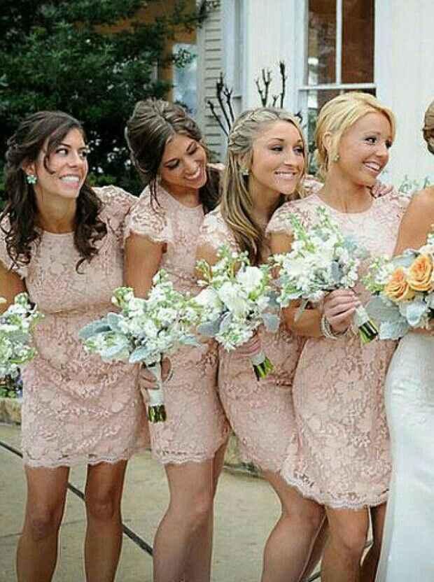 Inspiración vestidos para damas de honor en rosado - 6