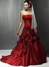 Vestido de novia rojo significado