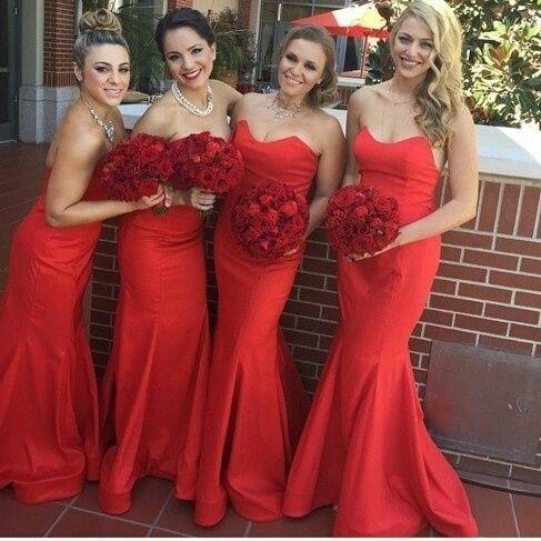 cdb70dd6a2 Damas de honor.. llenas de color rojo..😍💕💫💃