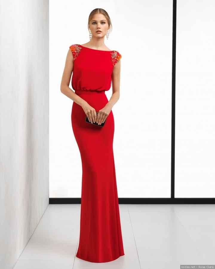 Vestido de invitada rojo