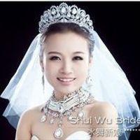 quiero tener una corona o tiara muy parecida a esta con mi gran velo largo