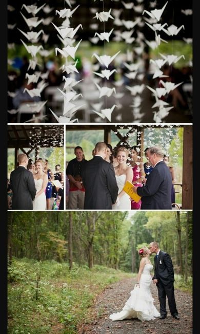 Matrimonio Tema Origami : Grullas en origami