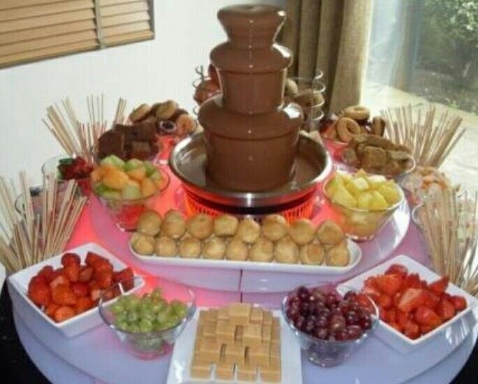 chocolate fountain wedding cake 191 algunas ideas para pasabocas 12702