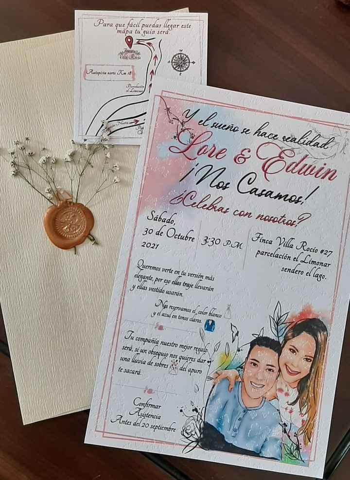 Listas las invitaciones... y con nuestro sello personal!! - 3