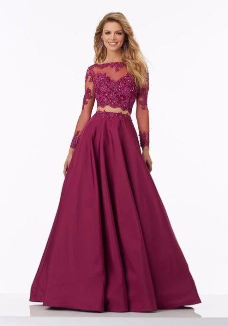e4d560a76 Vestido de dos piezas para las damas de honor