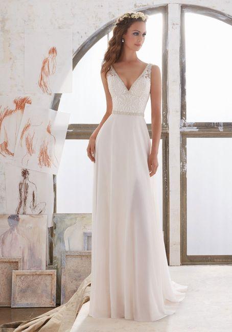 vestido de novia recto: ¡describe en una palabra!
