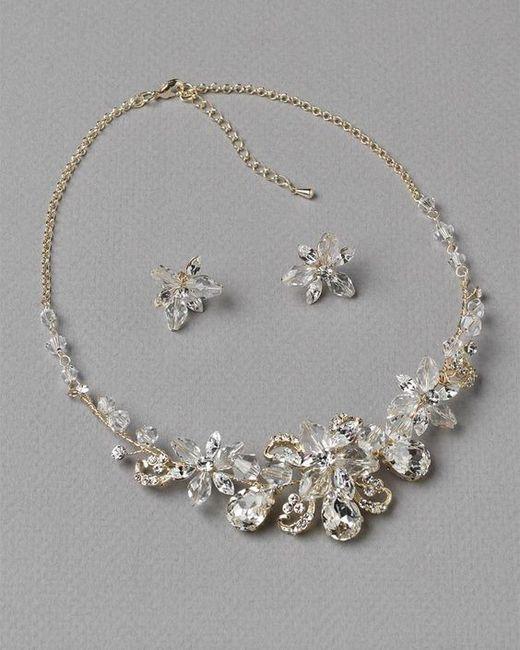 6dfe8051a59f Collar + Aretes para novia 👰🏻 ¿Cuál usarías