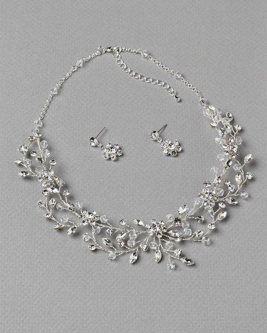 866fc90289e5 Collar + Aretes para novia 👰🏻 ¿Cuál usarías  6