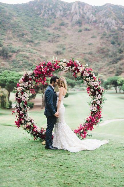 3 Matrimonios, 3 ARCOS con flores: ¿A, B ó C? 1