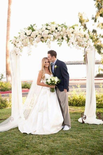 3 Matrimonios, 3 ARCOS con flores: ¿A, B ó C? 2