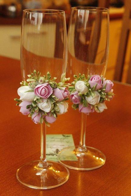 Copas De Novios Decoradas Con Flores