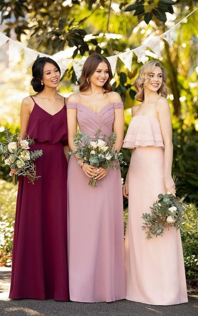 Damas de honor: ¡Diferentes modelos, diferentes colores! 2