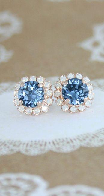 ¿Usarías estos aritos para tu 'algo azul'? 💙 1