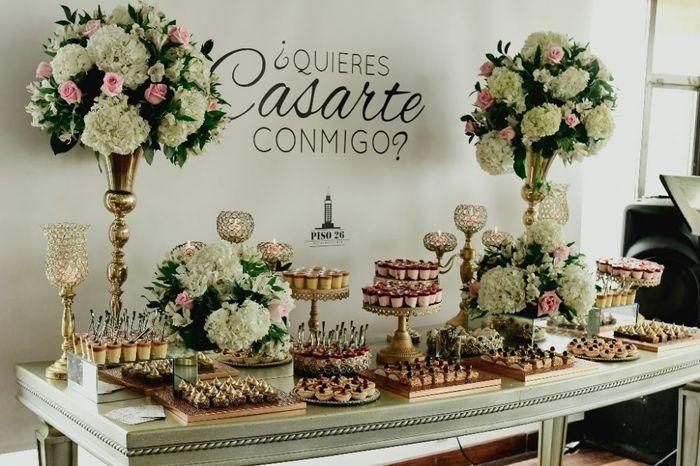 ¿Van a ofrecer diferentes postres en su casamiento? 1