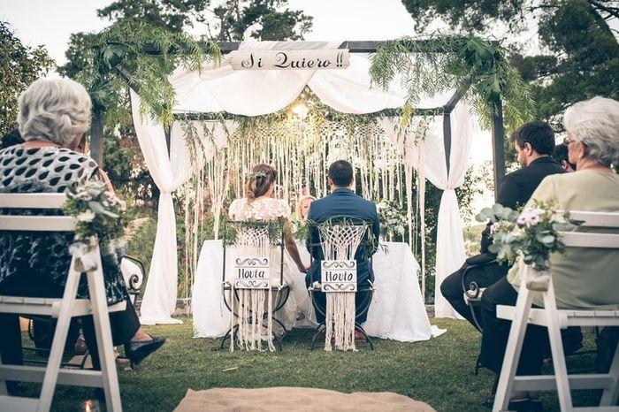 Decoración con macramé para una boda Boho 🍂 1