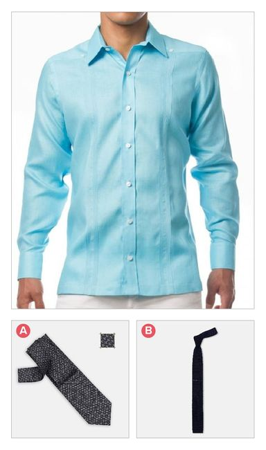 Combina camisa con corbata 1