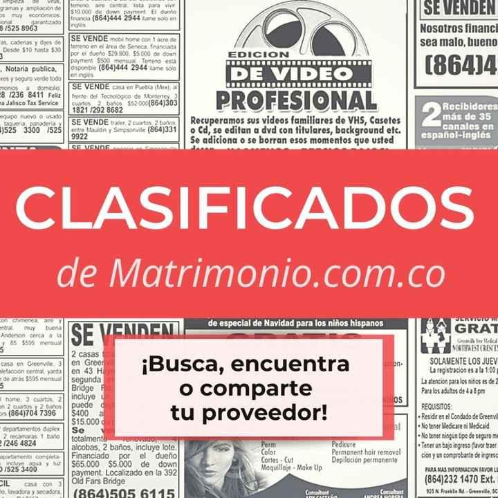 ¿Buscas y/o encuentras? Los clasificados de Matrimonio.com.co - 1
