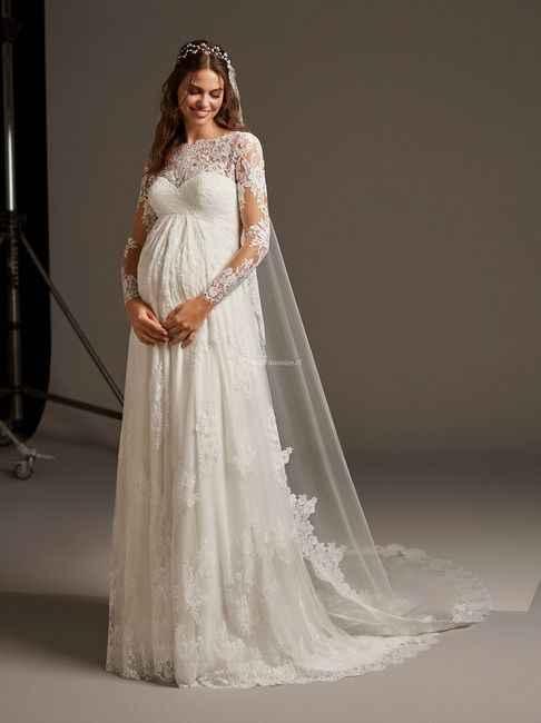 5 vestidos para novias EMBARAZADAS. ¡Deja tu ❤️ en uno! - 5