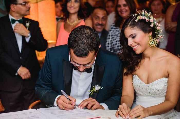 ¿Vas a ensayar tu firma para el acta de matrimonio? - 1
