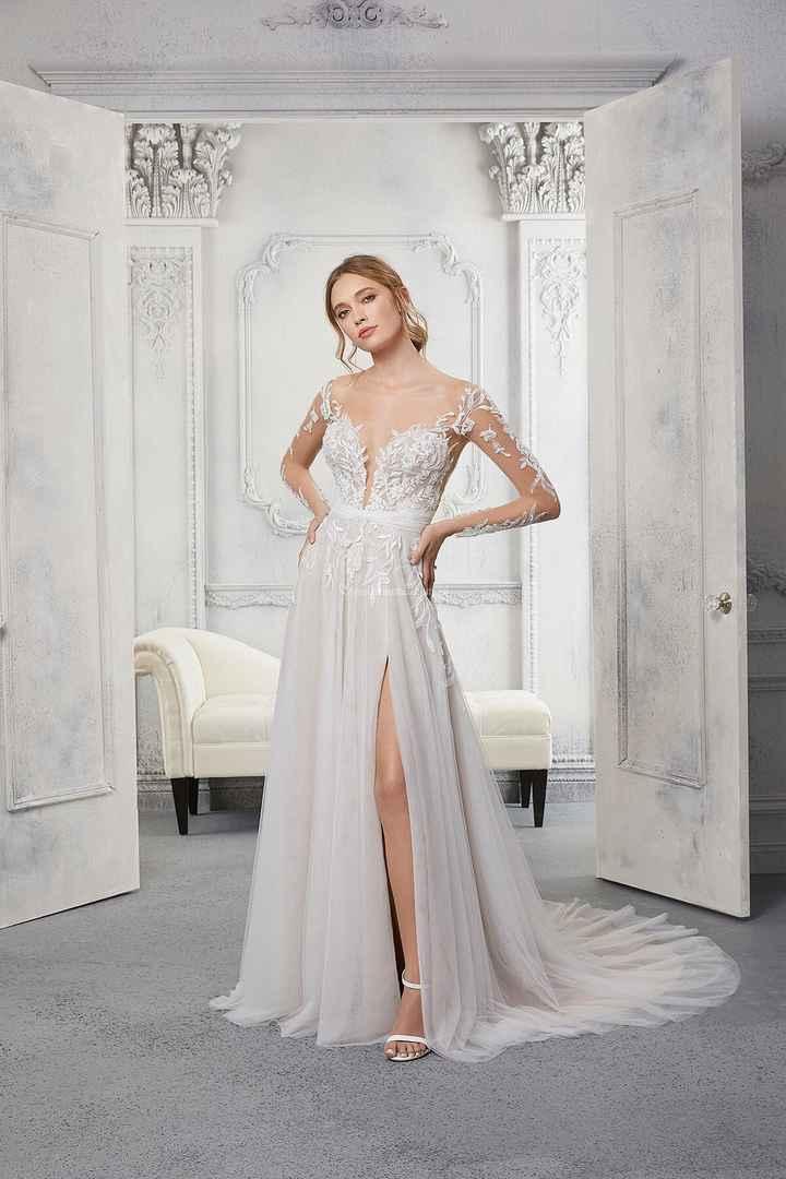 3 vestidos de novia con abertura: ¡VOTA1 - 1
